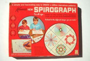 A 1960's Spirograph set.