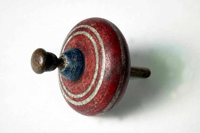 A Victorian spinning top.