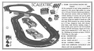 A 1950's Scalextric Set.