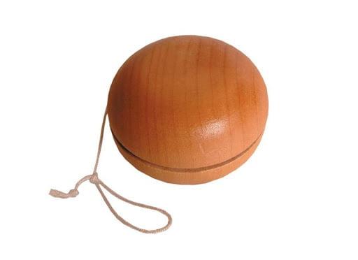A wooden Victorian yoyo.