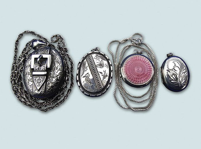 types of vintage silver jewellery
